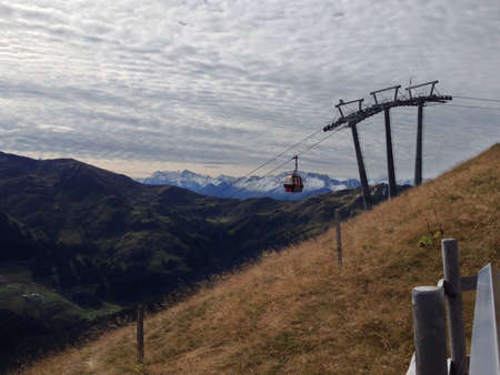ski lift: Ski lift in the Austrian alps