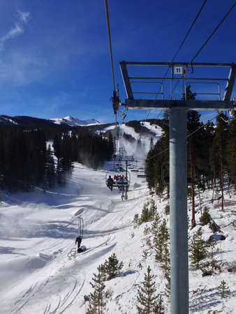 ski lift: Ski lift in Colorado