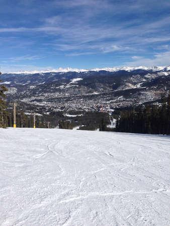 Ski slope in Breckenridge Colorado Stok Fotoğraf