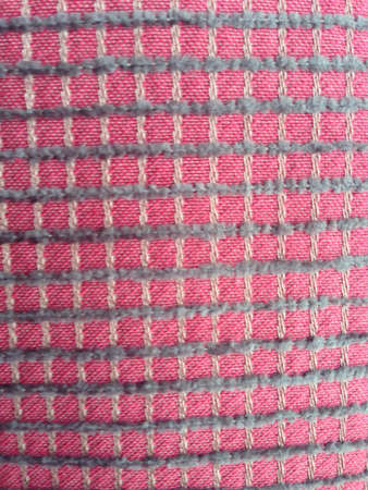 stitch: Close up of red stitch pattern