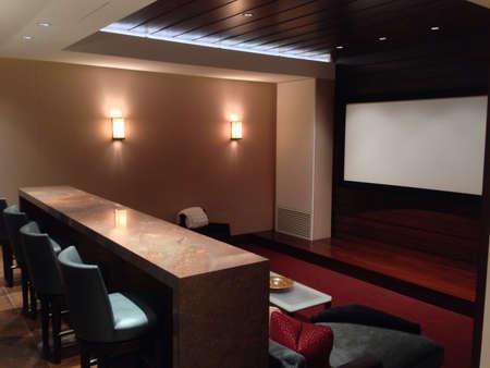 home theater: Home theatre Archivio Fotografico