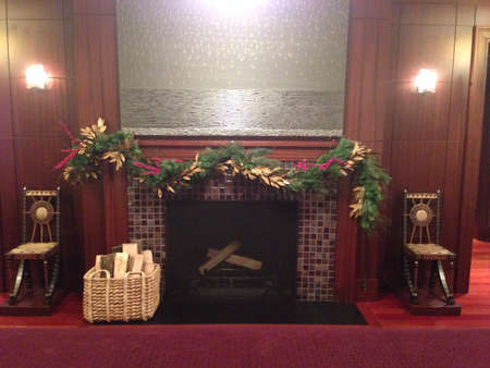 Holiday fireplace  Banco de Imagens - 24701541