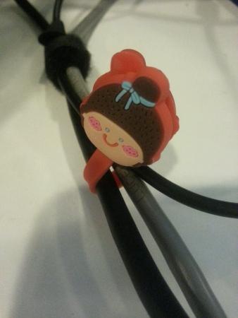 wire: The cute clip to tight wire Stock Photo