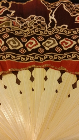 traditional textured: sabah traditional batik fan Stock Photo