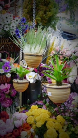 Artificial flower shop photo