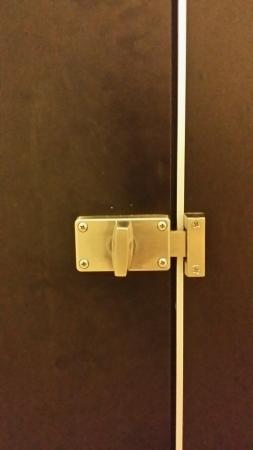 toilet door: Toilet door lock