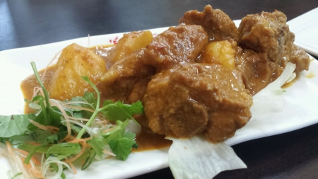 Curry pork rib dish Stock Photo