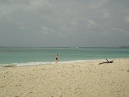 Caucasian woman holiday at beach