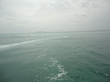Small waves at sea