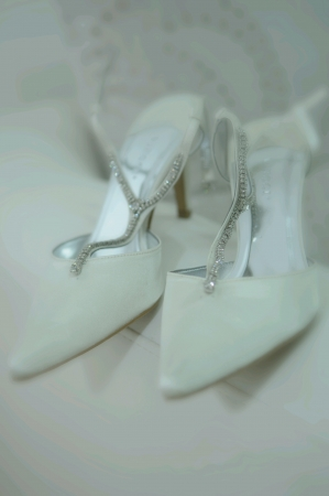 Luxury wedding high heels Stock Photo