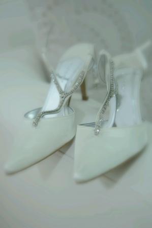 Luxury wedding high heels Stock Photo