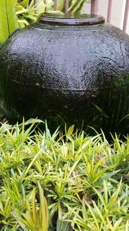 Jar fountain in the garden