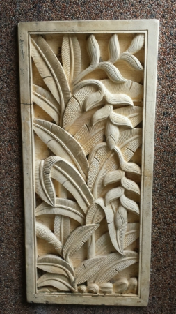 Wall carving decoration  Stock Photo