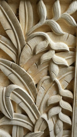 Wall carving decoration close up