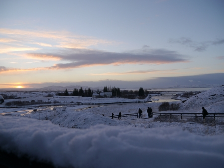 Snow Filled Iceland Stock Photo