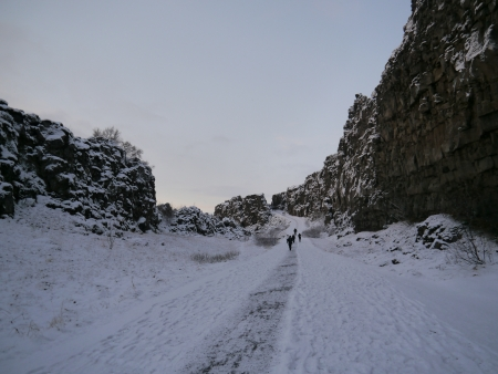 Path at National Park at Iceland