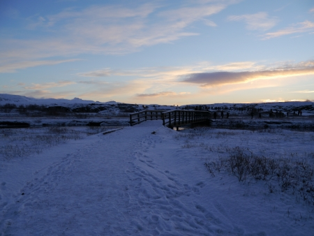 National Park at Iceland during sunset