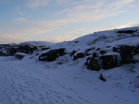 National Park at Iceland filled with snow