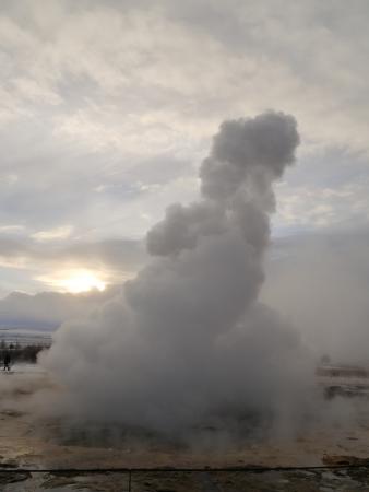 Volcano Eruption Geysir, Iceland