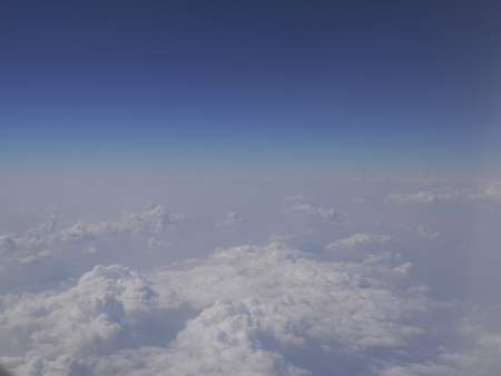 Aerial view of dense clouds in the sky Stock Photo
