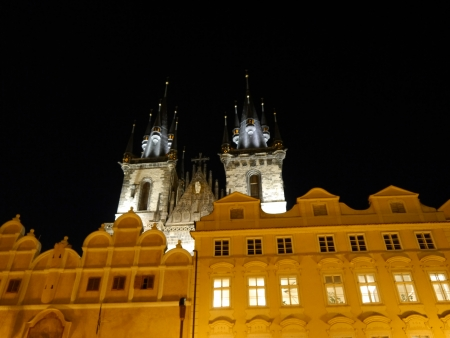 The Old Town Square in the center of Prague City photo