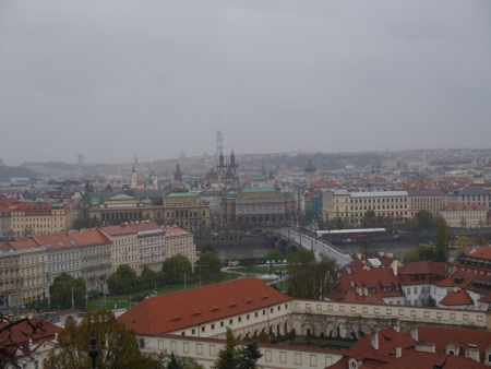 cityscape of Prague city  Panoramic view  One of the most beautiful city in Europe