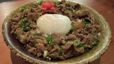 Japanese beef rice with egg