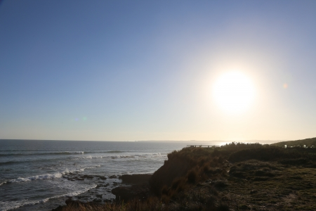 Sunset above the sea Stock Photo