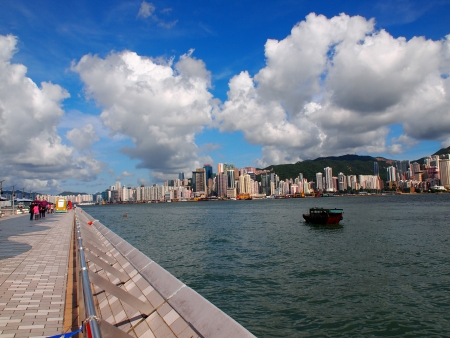 Horizonte de Hong Kong Editorial
