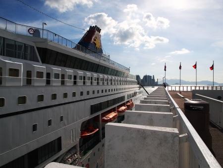Cruise at Ocean Terminal in Tsim Sha Tsui, Hong Kong