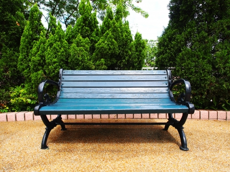 Public Chair in an Urban City Stock Photo