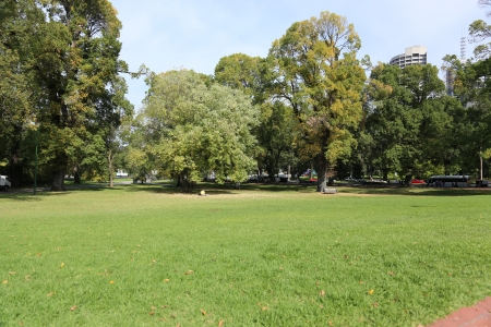 Fitzroy Gardens in Melbourne, Australia Stock Photo