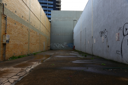 Empty corner in the street