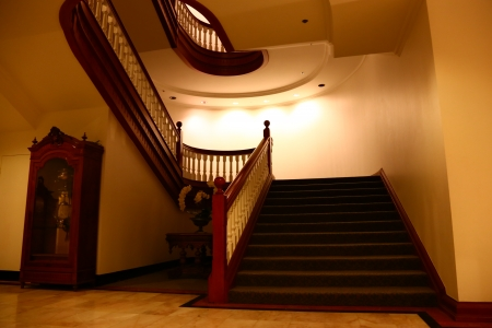 Staircase of luxury modern Hall Editorial