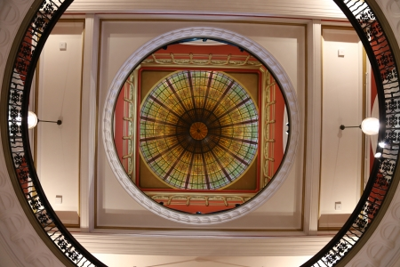 Vintage Ceiling in Queen Victoria Building in Australia Editorial