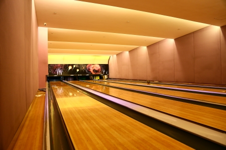 Empty Bowling Alley