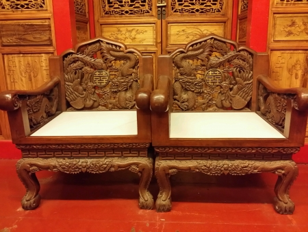 tradional: Couple chair traditional chinese