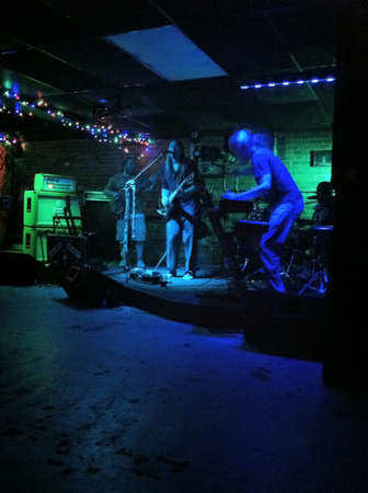 band bar: Band playing in bar
