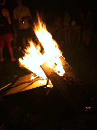 Bonfire at night  Reklamní fotografie