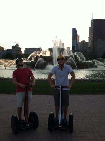 Segway tour in Chicago  版權商用圖片 - 24131501