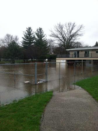 Flood over pool