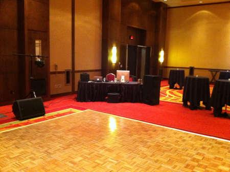 DJ setup in banquet room  Фото со стока - 24219487