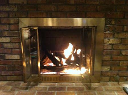Brick fire place