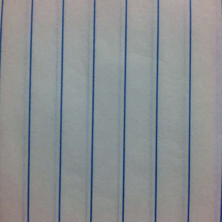 Vertically lined paper