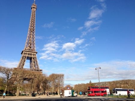 Landscape of Eiffel Tower Paris daytime