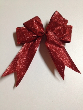 Red Glittering Ribbon  Stock Photo