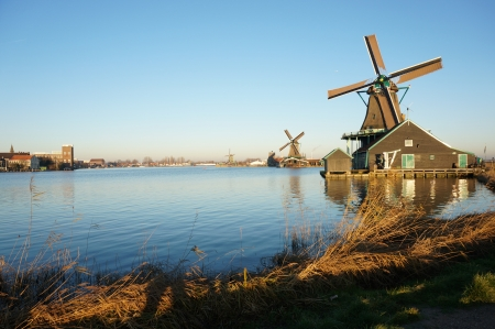 Zaanse Schans, Volendam;Europe - well-preserved windmills   Editorial