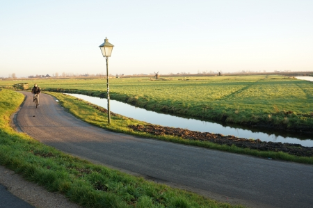 Zaanse Schans, Volendam;Europe - Countryside winter season yet comfortable for jogging