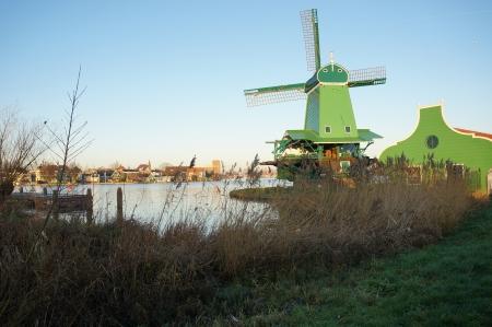 Zaanse Schans, Volendam;Europe - well-preserved windmills   Editorial