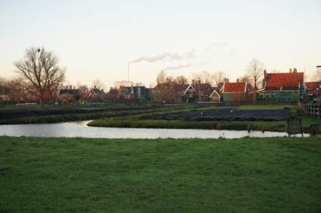 Zaanse Schans, Volendam;Europe - Dutch countryside peaceful
